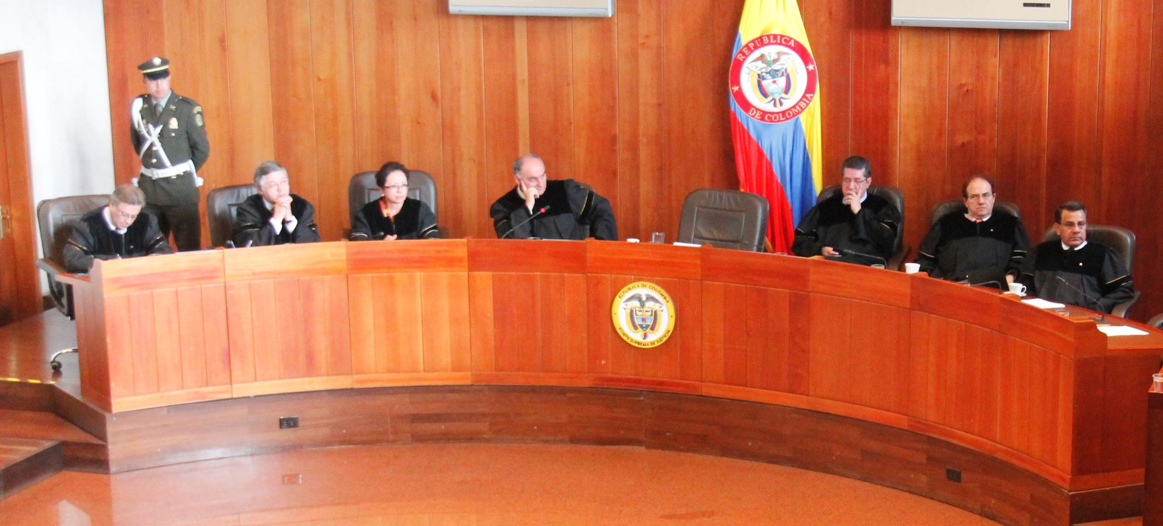 Resultado de imagen para corte suprema de justicia de colombia