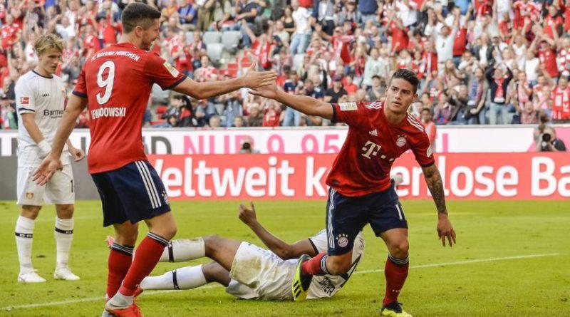 James figura en el triunfo del Bayern sobre el Wolfsburgo