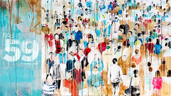Imagen oficial del FICCI, una obra de Diana Herrera.