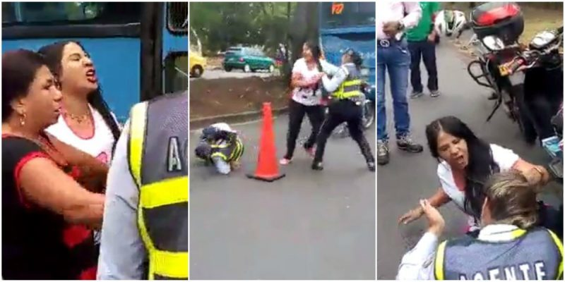 EN QUE PARÓ LA AGRESIÓN A POLICÍAS DE TRÁNSITO EN CALI – VIDEO
