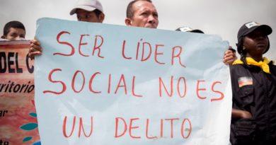 No cesan los asesinatos a líderes sociales en Colombia