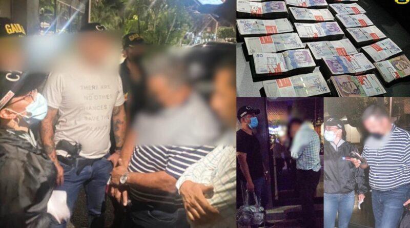 Dos fiscales fueron capturados por exigir dinero para interceder en un proceso de lavado de activos y extinción de dominio