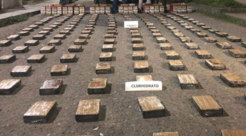 Fueron incautados 25 kilos de cocaína por la Policía