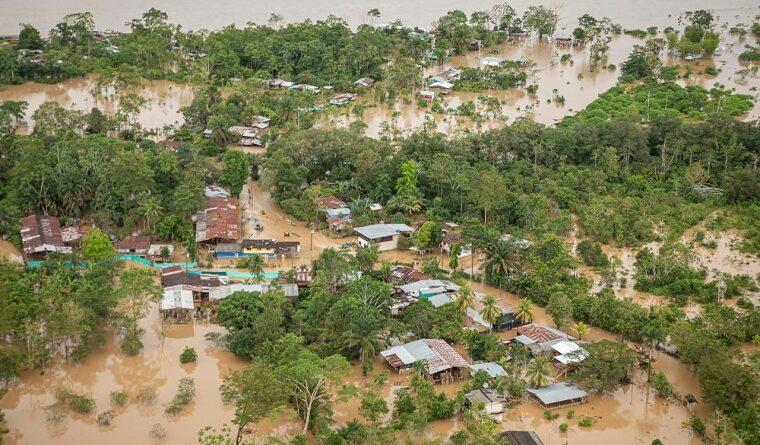 Fue rescatada una familia en Putumayo que fue afectada por el invierno