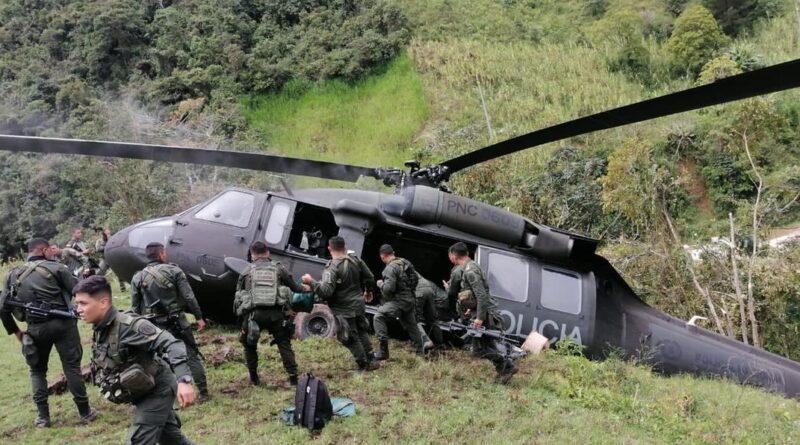 (video) Cae un helicóptero en Ituango-Antioquia