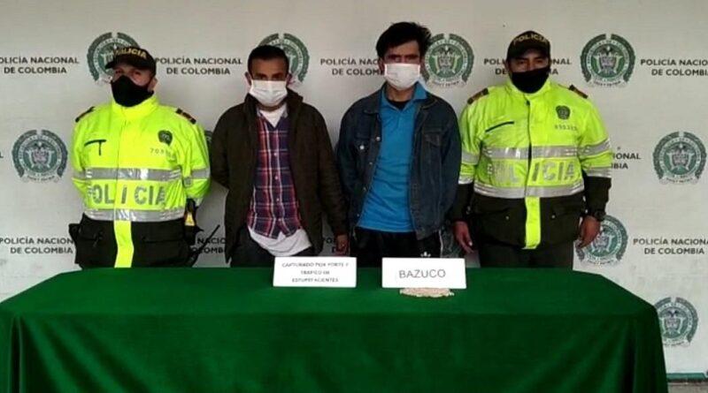 En San Cristóbal Policía captura a dos personas sorprendidas con estupefacientes