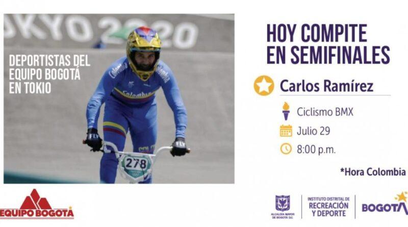 Carlos Ramírez clasificó a semifinales en Juegos Olímpicos de Tokio 2020+1